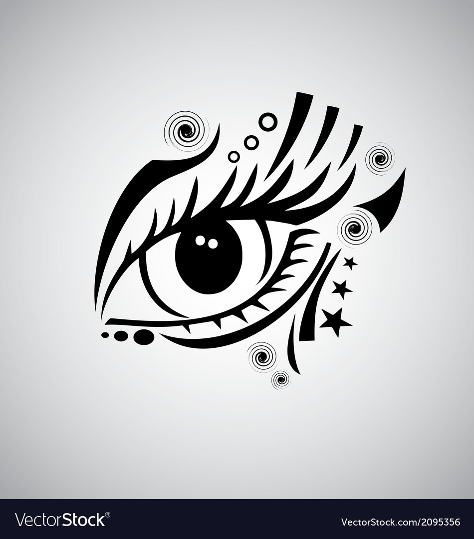 d3842bc6bfab5 Tribal Eyes Royalty Free Vector Image - VectorStock