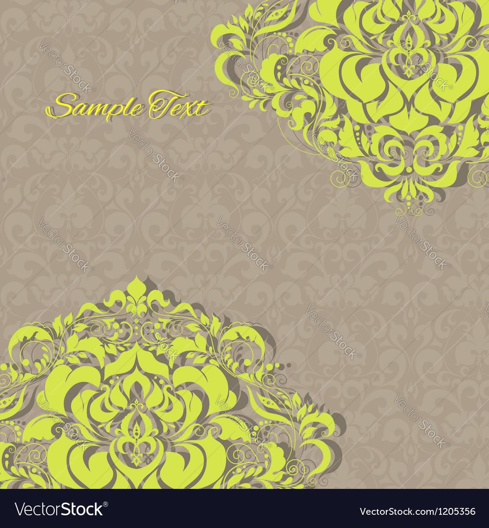 Vintage invitation floral card EPS 10 vector image