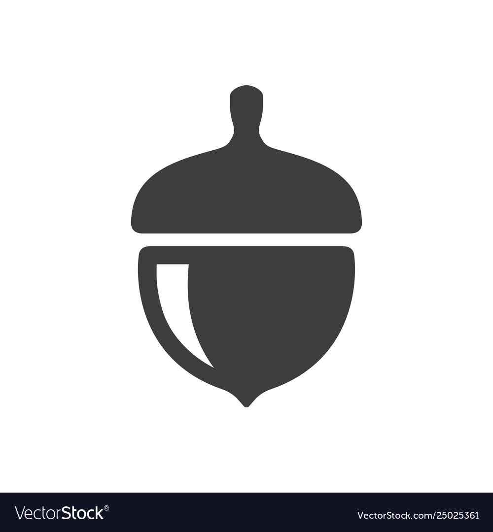 Acorn icon simple filled