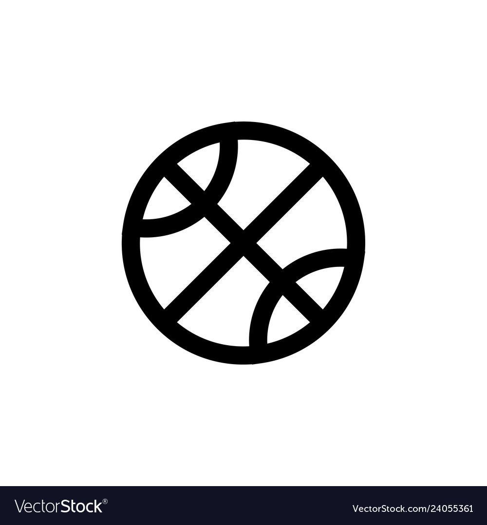Basketball icon design template isolated