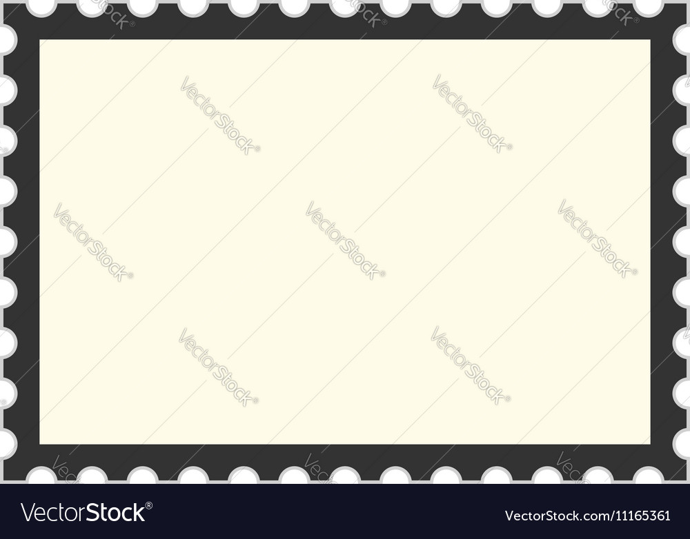 Black postage stamp template Royalty Free Vector Image