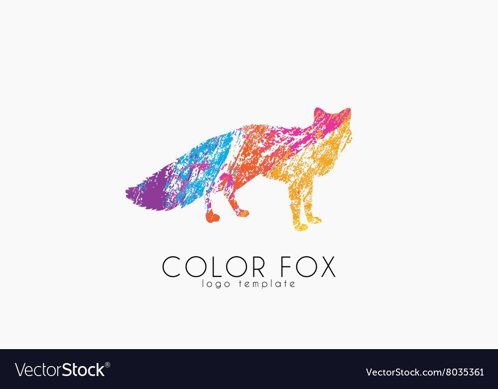 Fox logo Color fox design Animal logo vector image