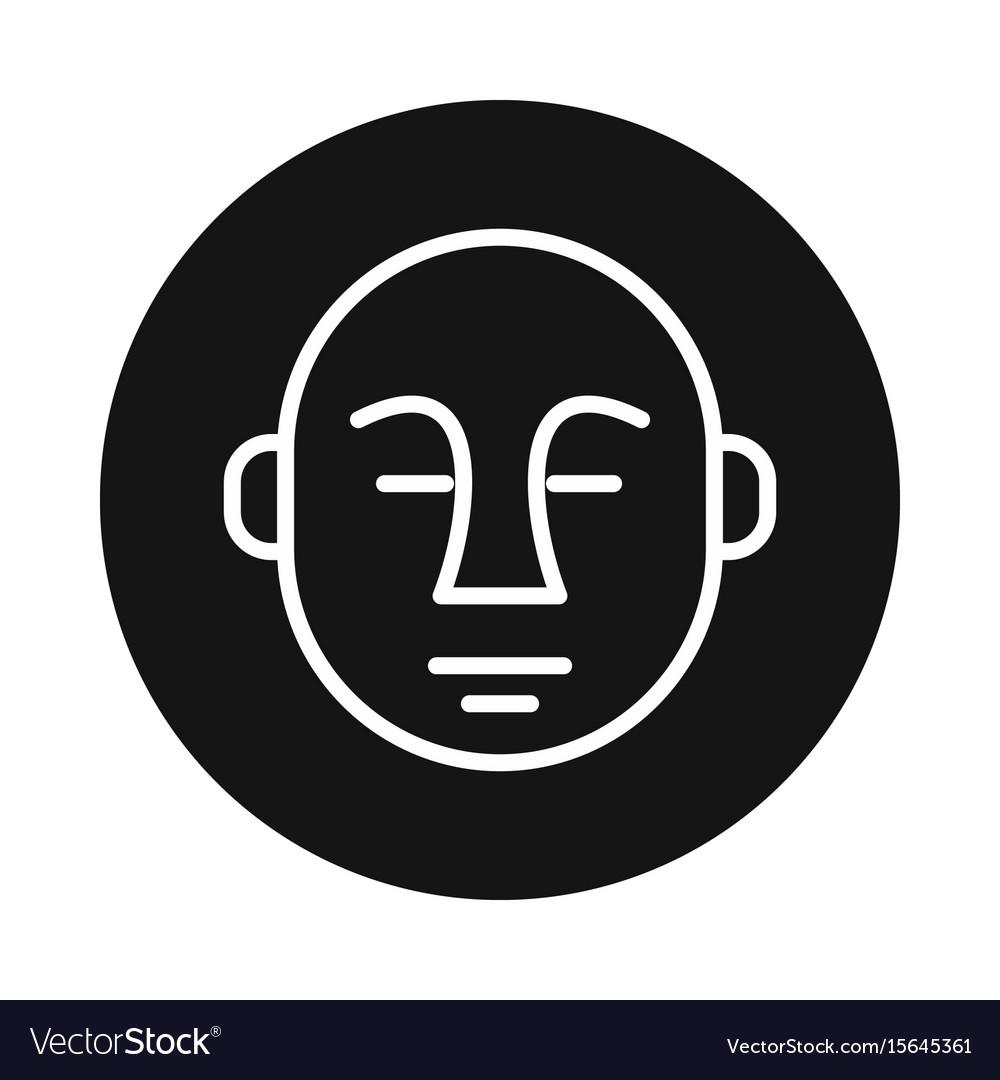 Japan buddha icon isolated on white background