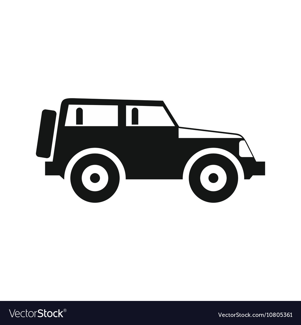 jeep icon in simple style royalty free vector image