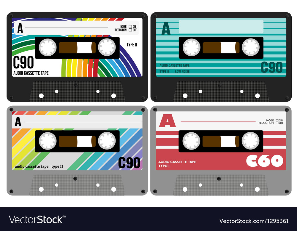 Retro Audio Cassette Tapes vector image