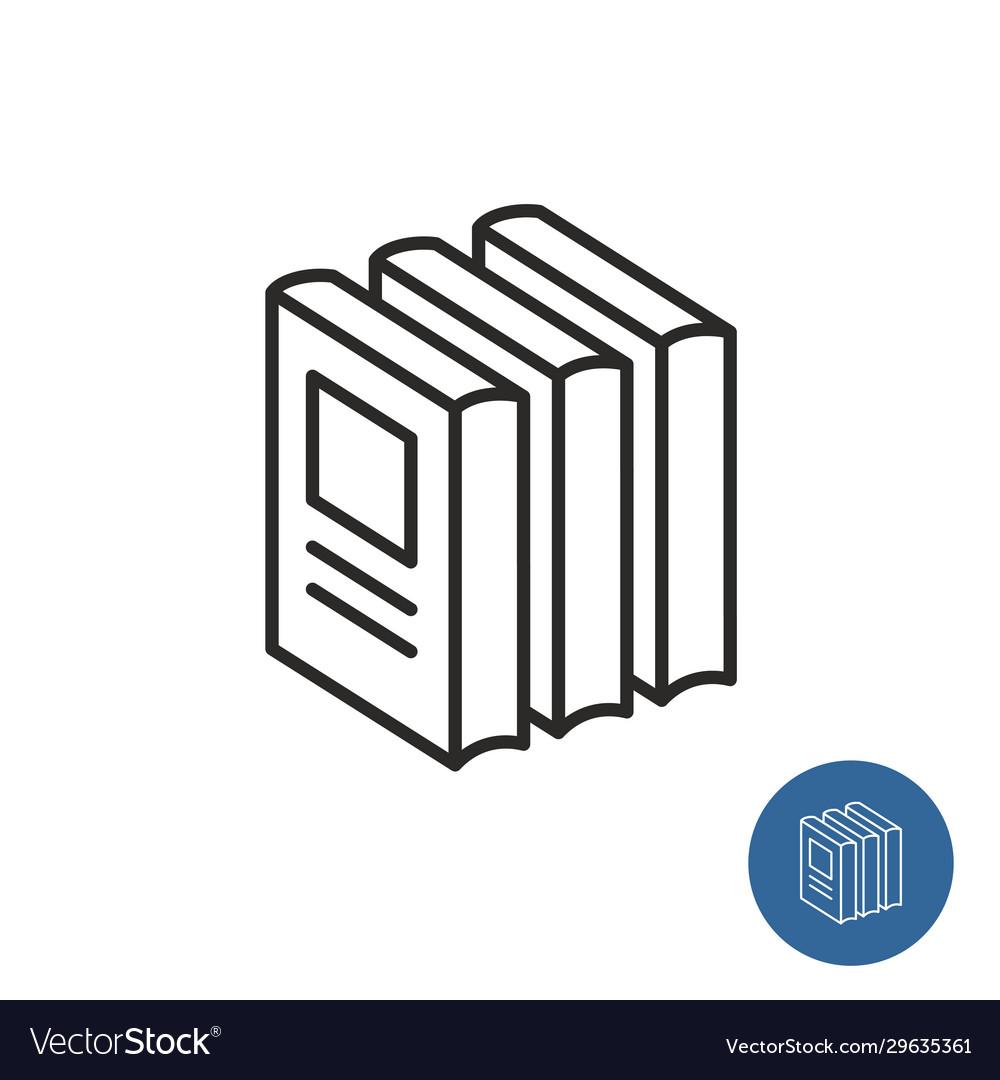 Stack books standing print circulation icon