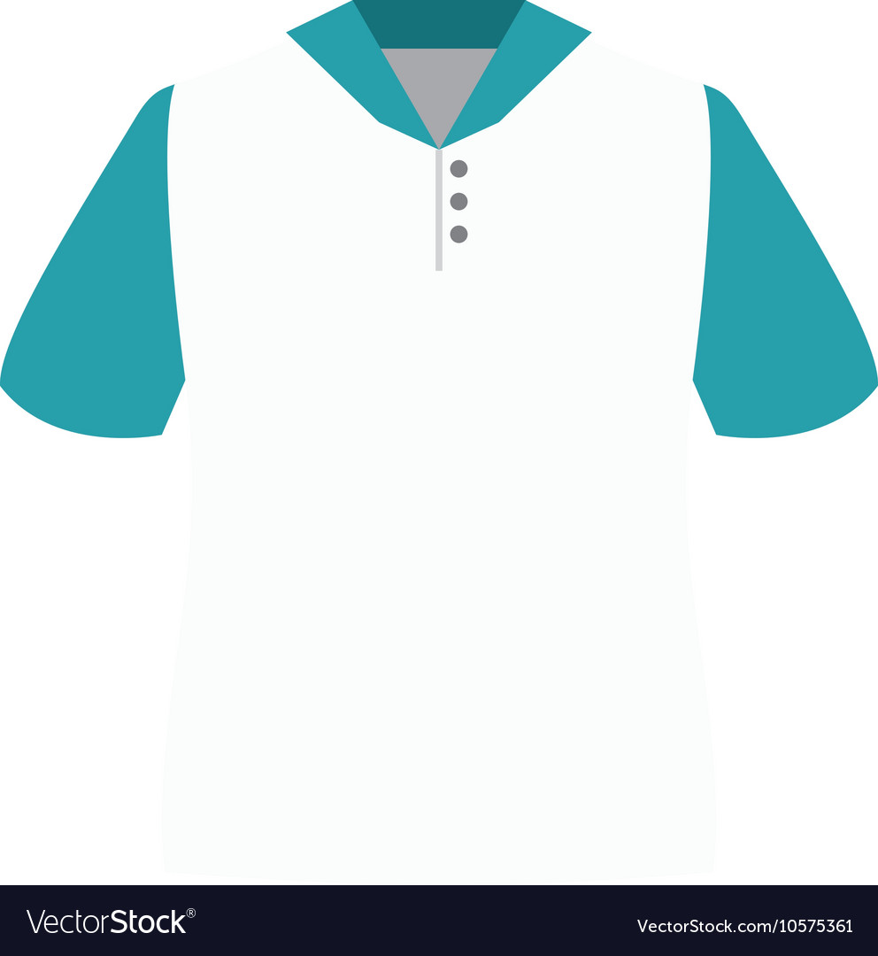 White polo shirt vector image