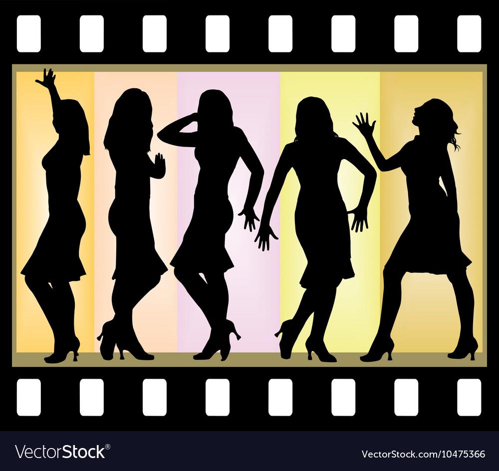 Attractive beautiful girls posing vector image