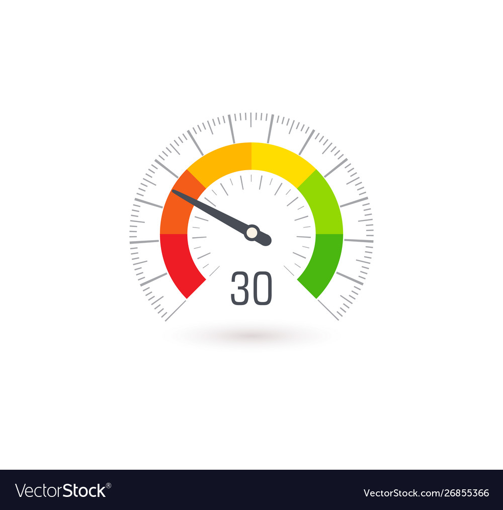 Business meter indicator icon with colorful