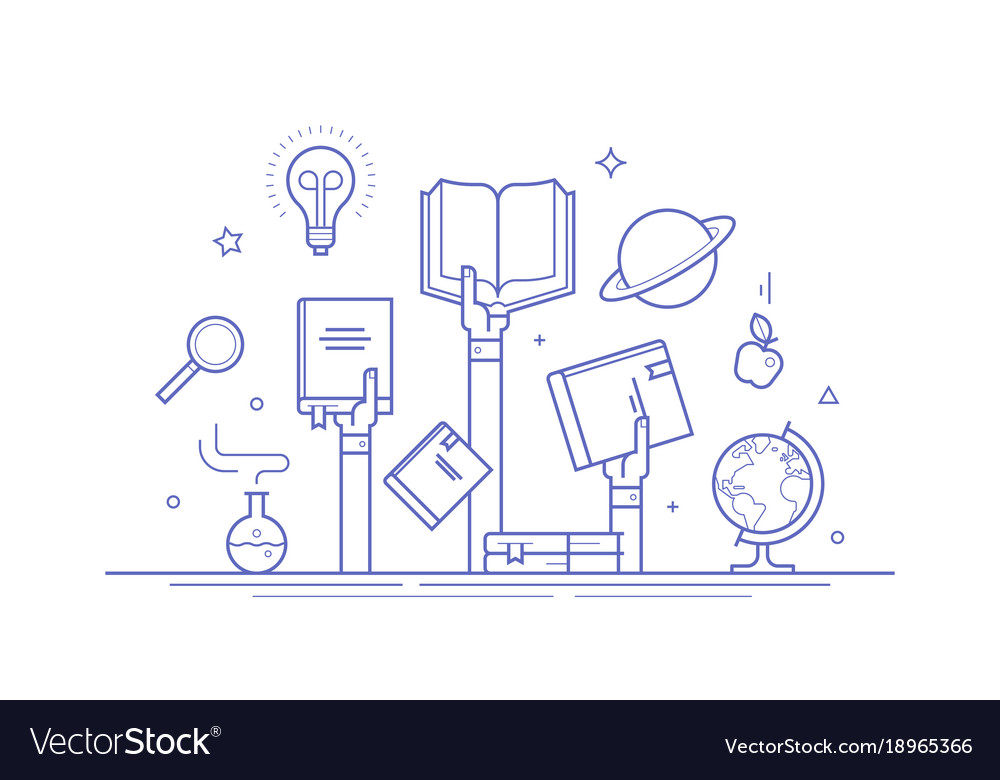 Concept on knowledge and education vector image