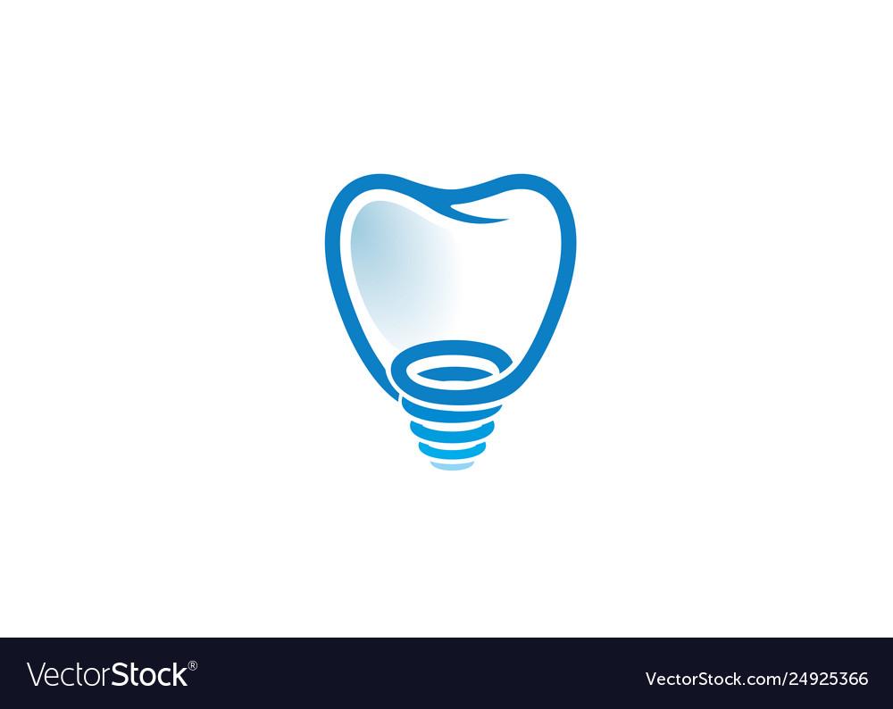 Creative tooth screw logo
