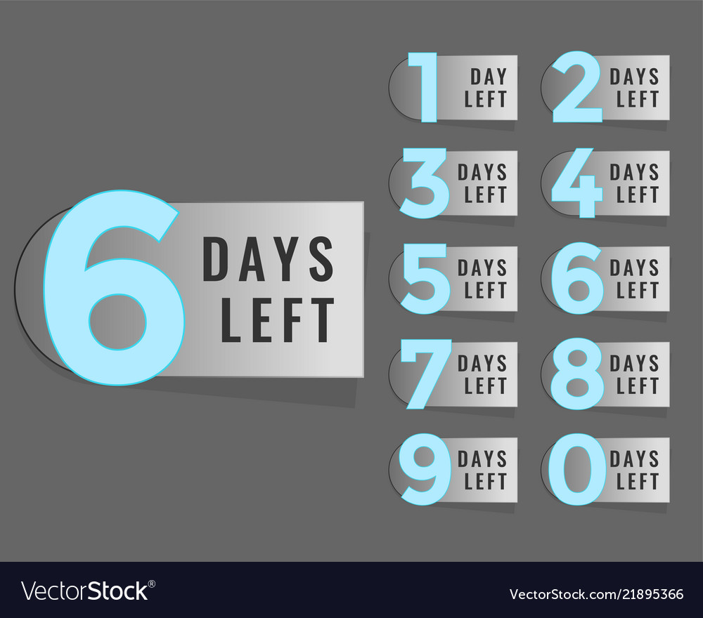 Days left countdown timer label