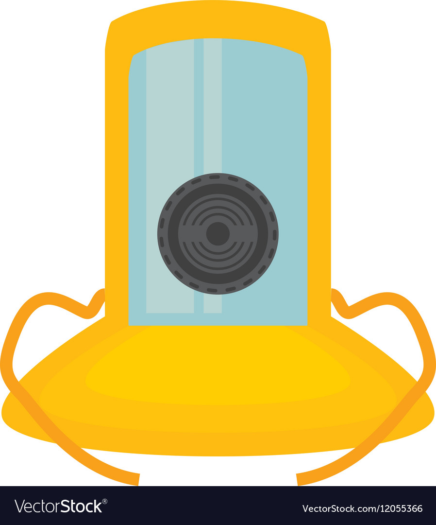 Gas mask suit cover safety vector image