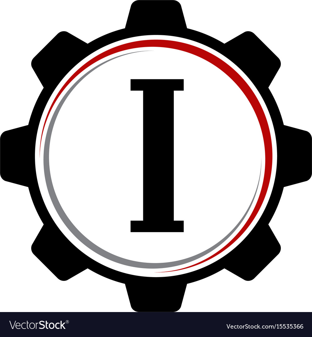 Gear solution logo letter i