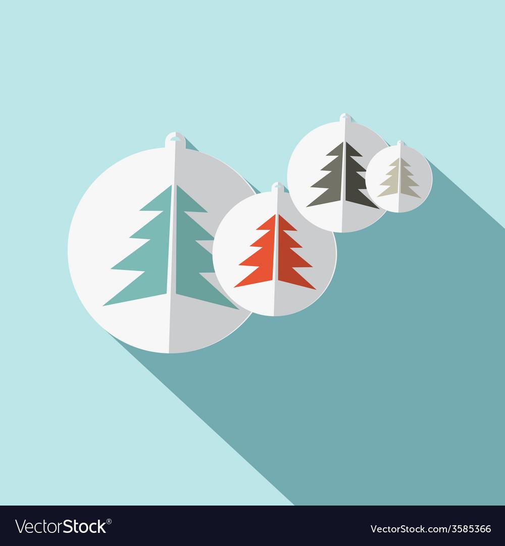 Paper Trees Flat Design vector image