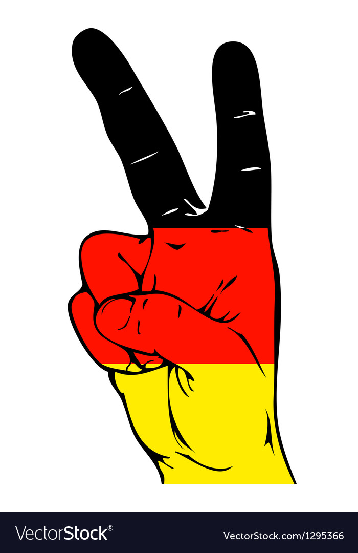 Peace Sign Of The Germany Flag Royalty Free Vector Image