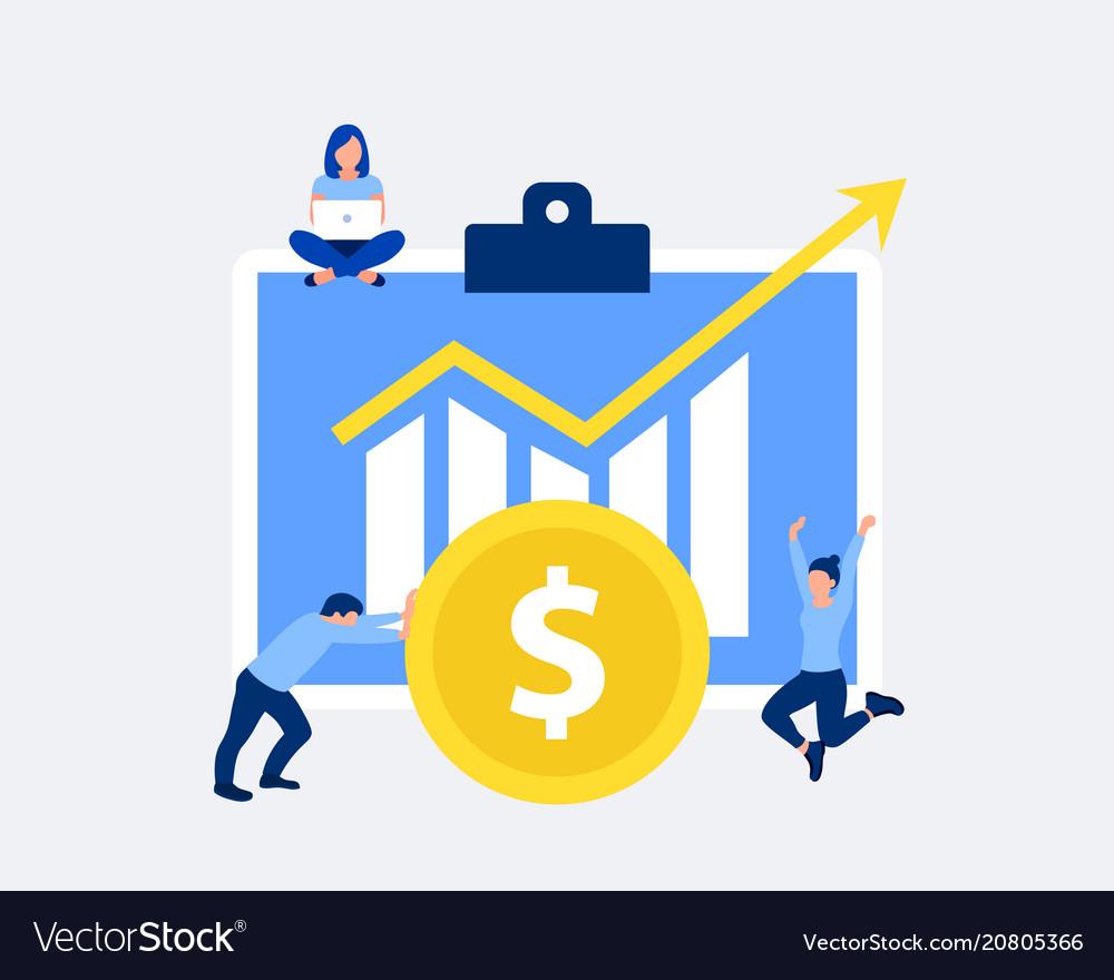 Profit or financial growth design concept
