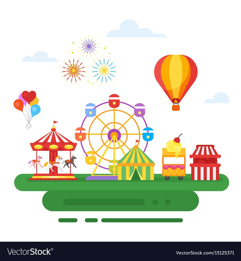 Amusement park for kids vector image