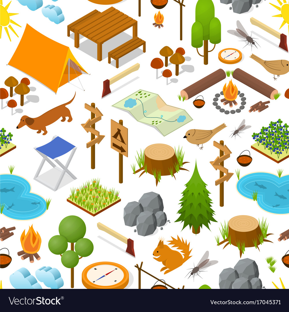 Camping element or part background pattern