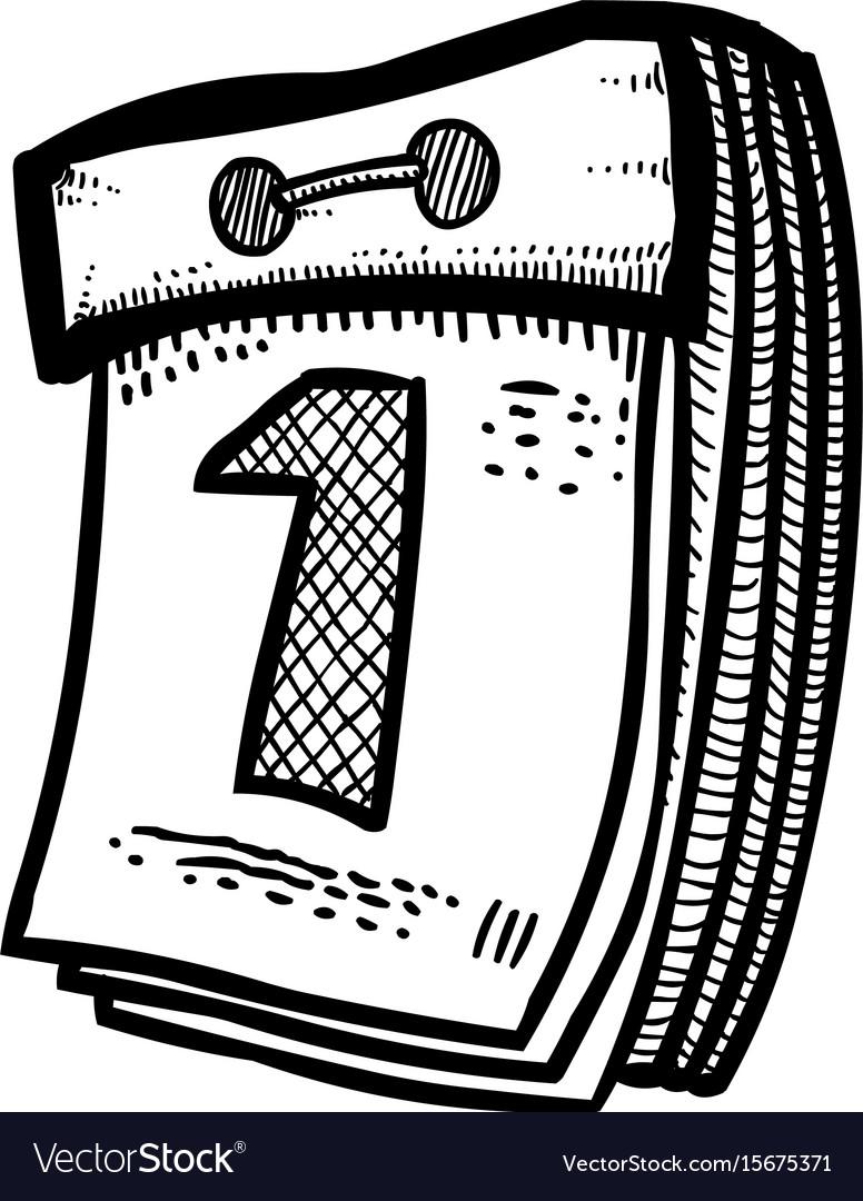 Cartoon image of calendar icon calendar symbol