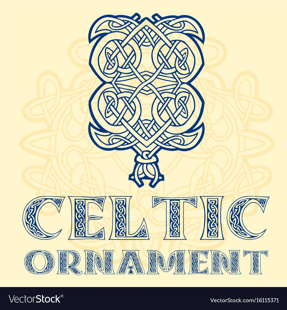 Decorative celtic ornament for your designs vector image