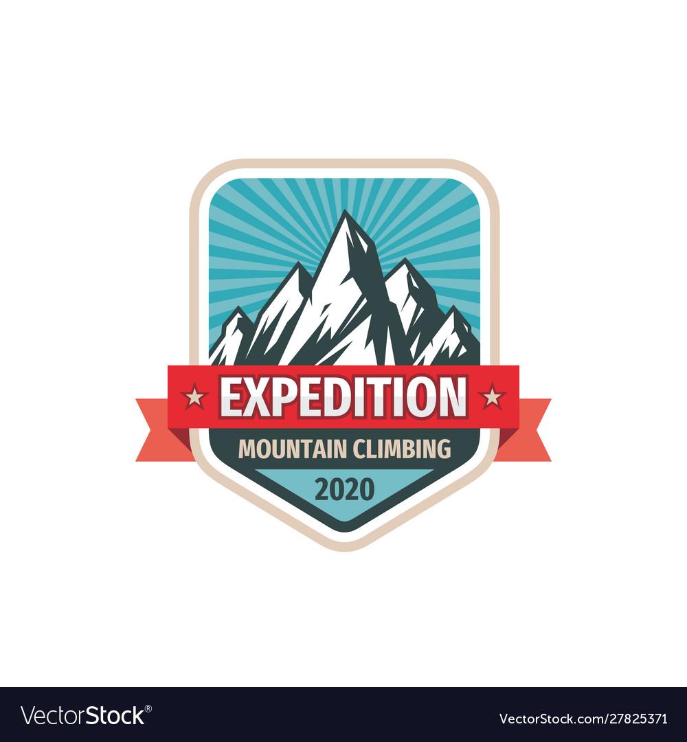 Expedition - concept badge design mountains