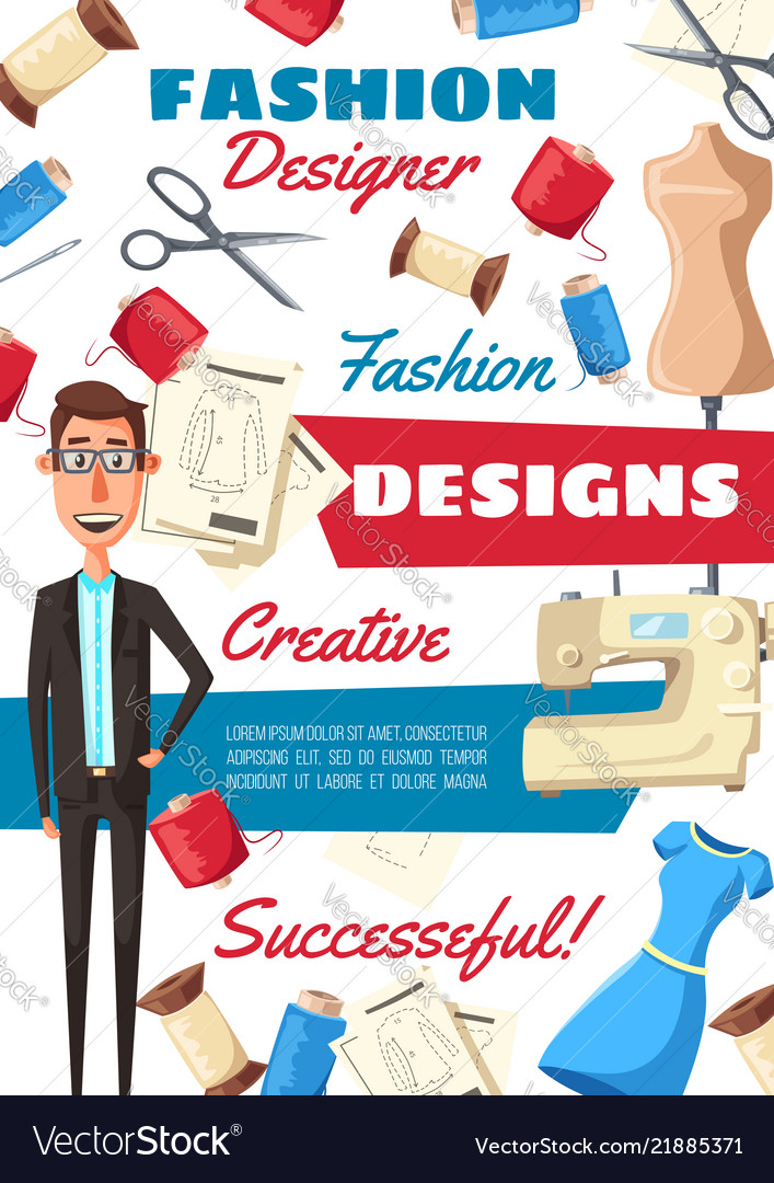 Fashion designer tailor and sewing tools