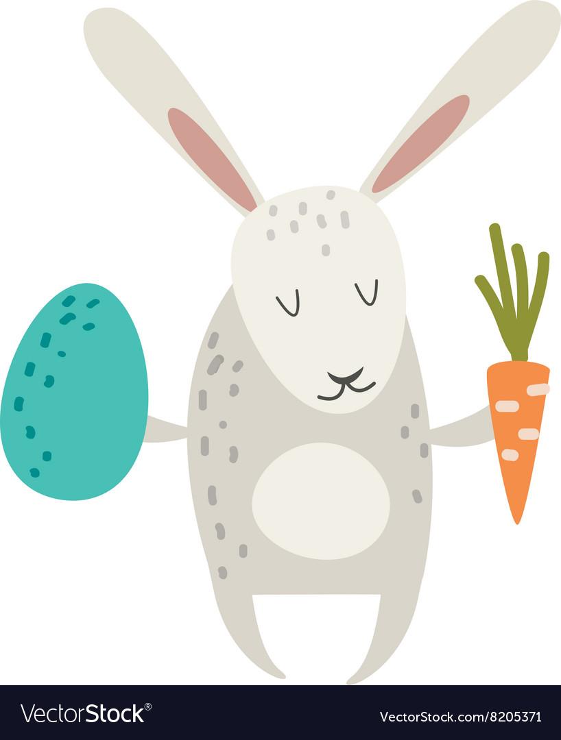 Greeting card Easter rabbit