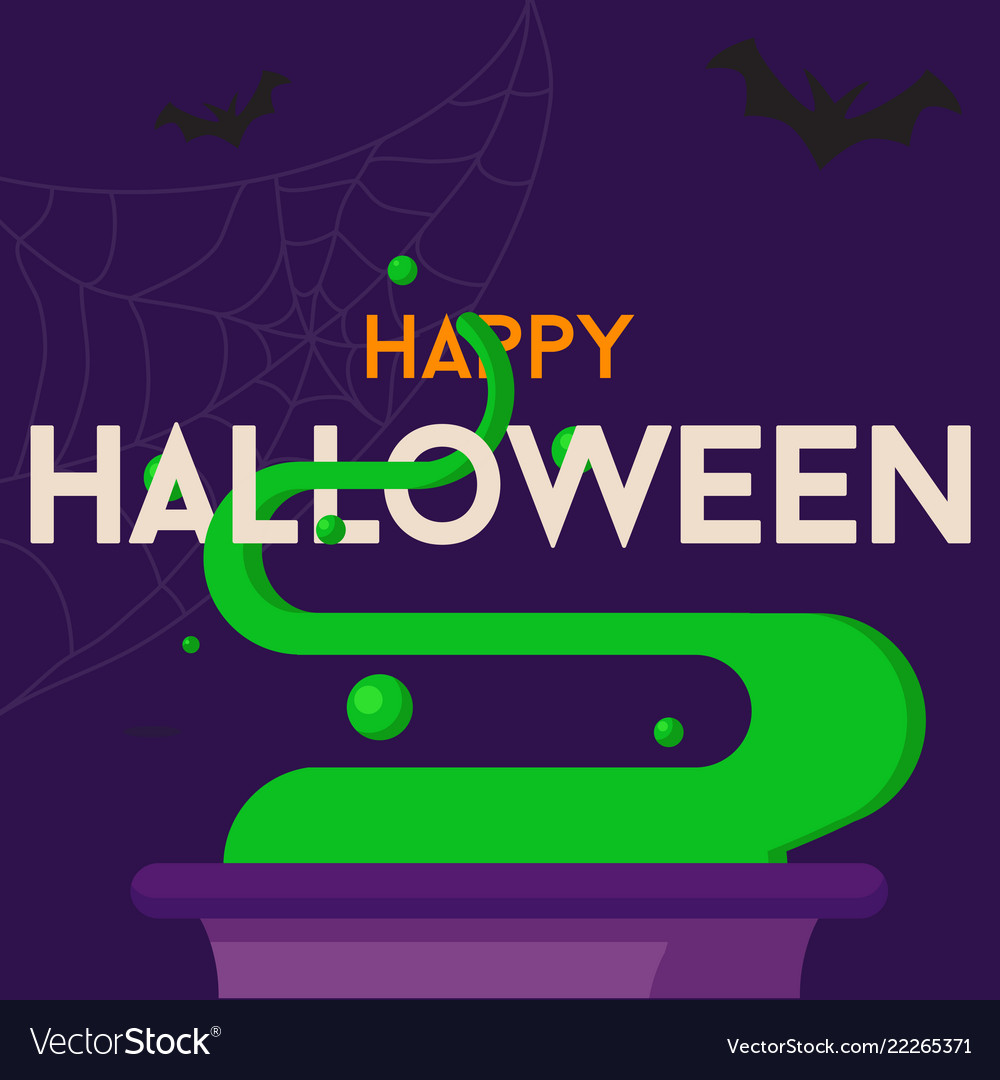 Happy halloween text background or banner