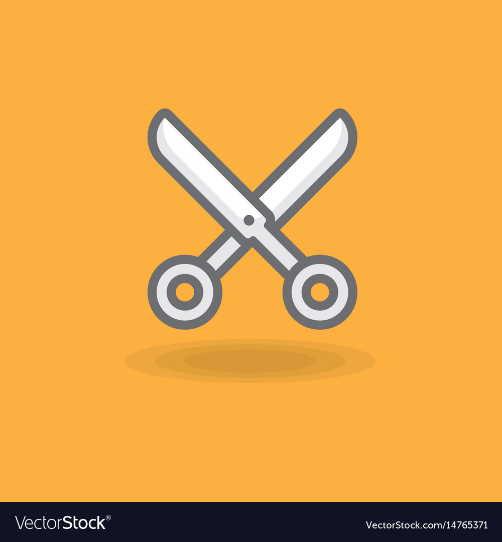 Icon a hairdresser scissors