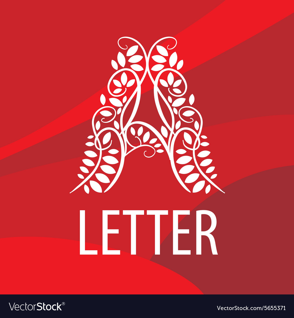 Logo letter A from plant patterns