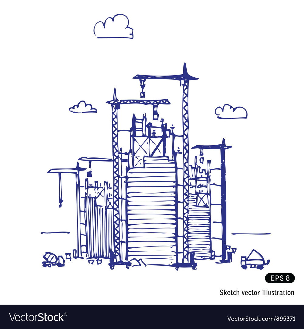 Project of construction vector image