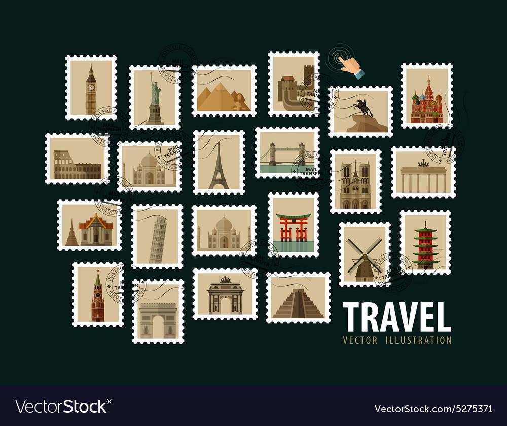 Travel vacation logo design template