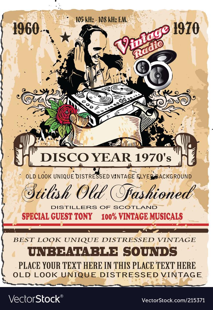 Vintage disco flyer