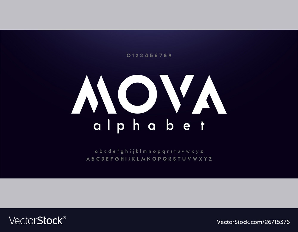 Abstract digital modern alphabet fonts typography