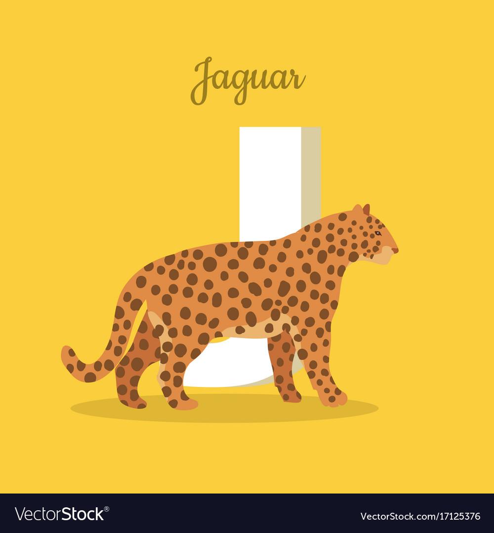 Animals alphabet letter - j