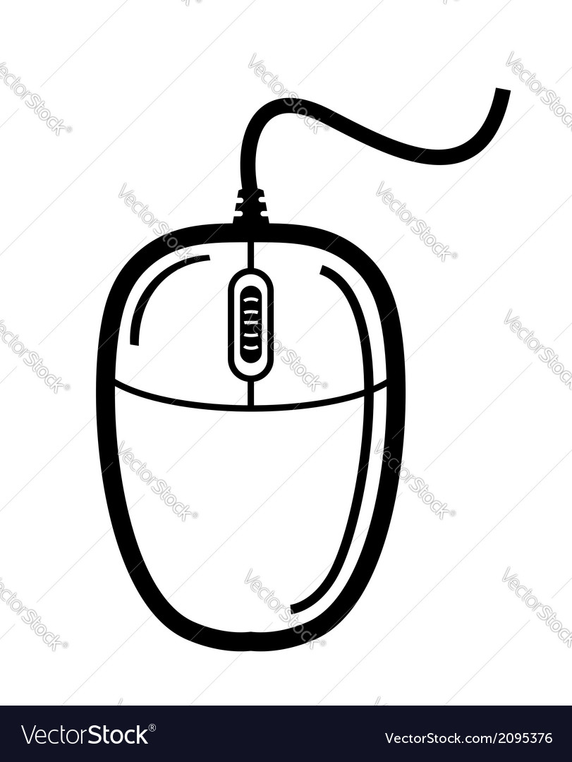 computer mouse royalty free vector image vectorstock rh vectorstock com computer mouse vector icon computer mouse vector design