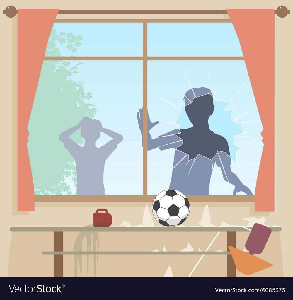 Football breaks window