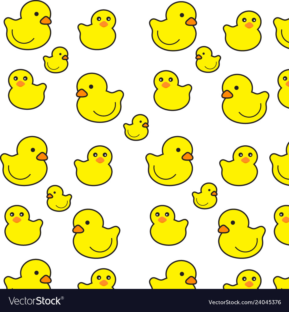 Little duck pattern on a white background