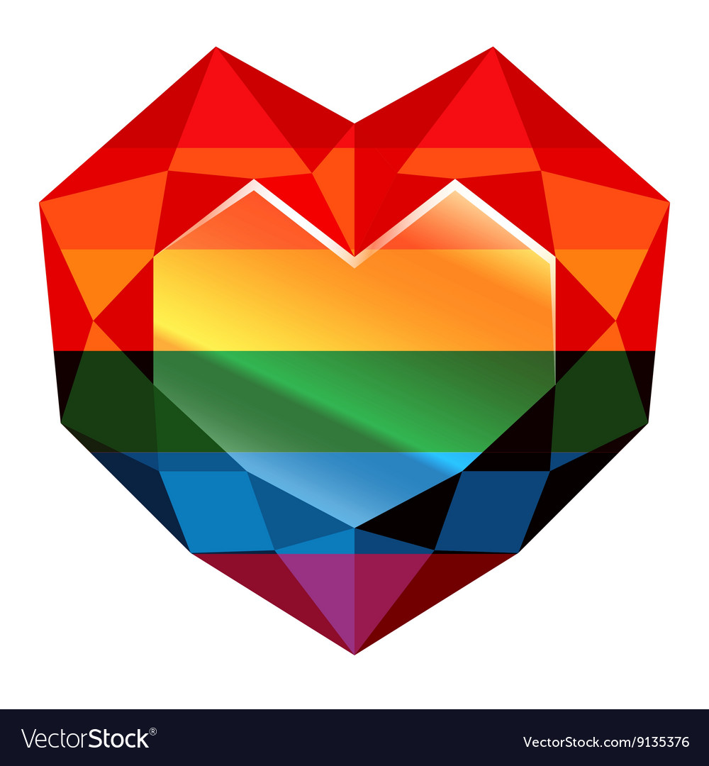 Love wins Rainbow Heart vector image