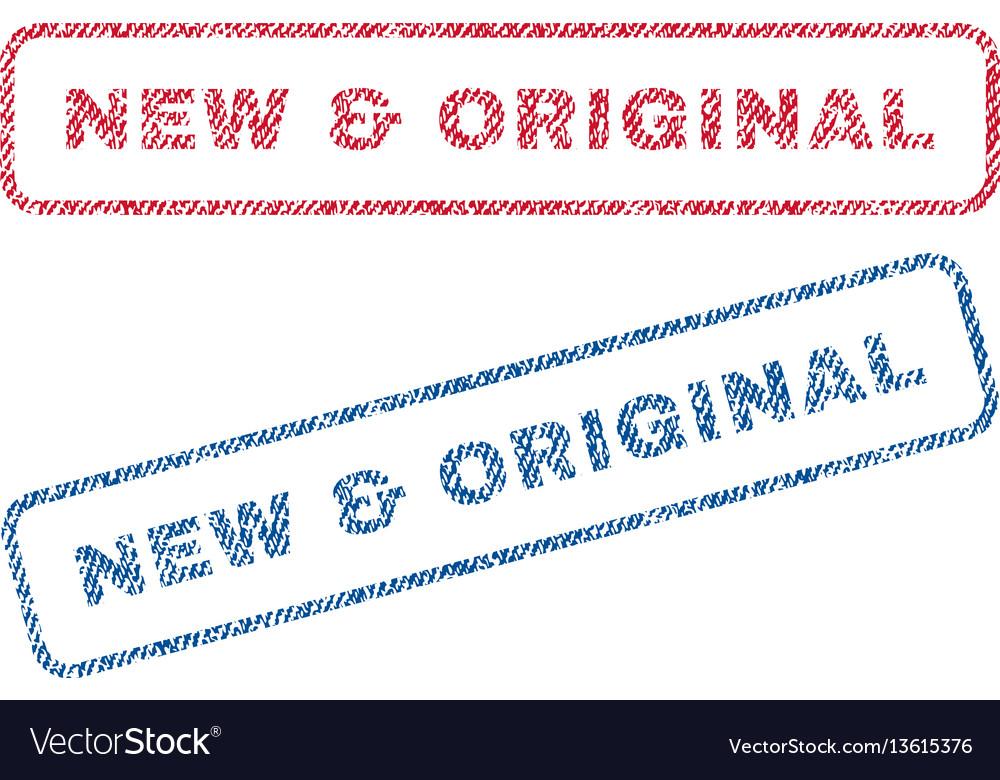 New original textile stamps