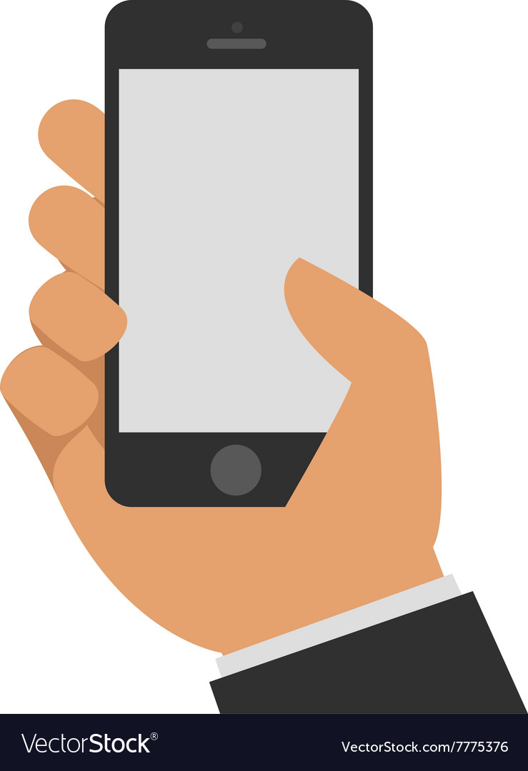 Phone in hand vector image