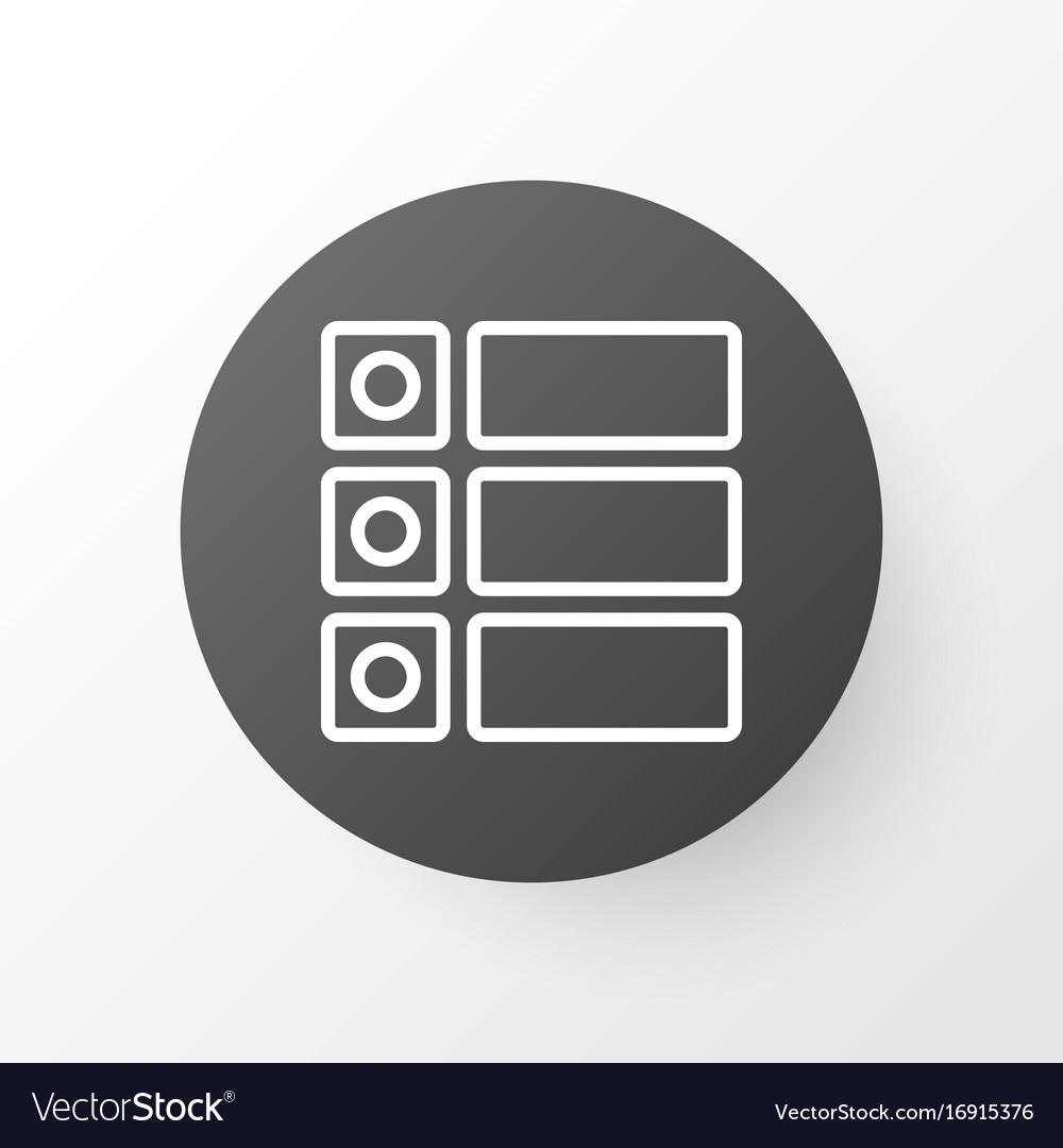 Tasks icon symbol premium quality isolated