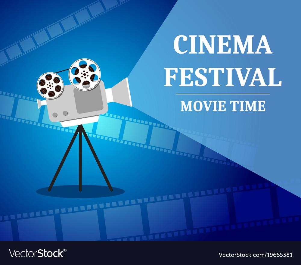 Cinema festival movie time invitation poster vector image stopboris Gallery