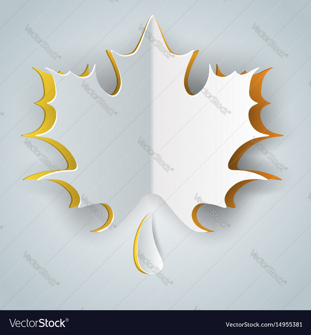Leaf icon on the grey background