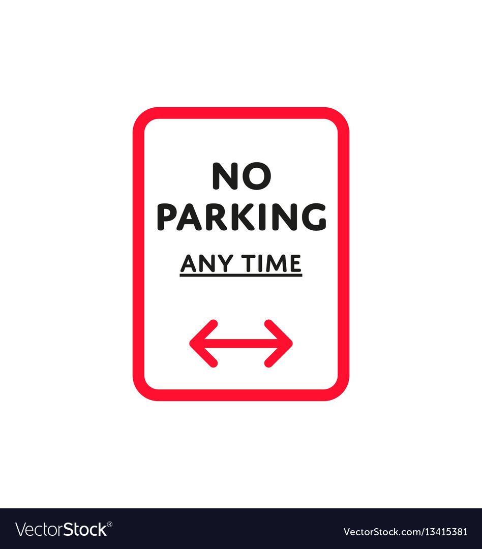 No parking any time roadsign isolated