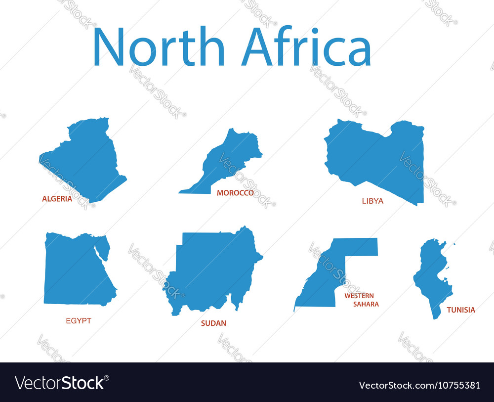 North africa   maps of territories Royalty Free Vector Image
