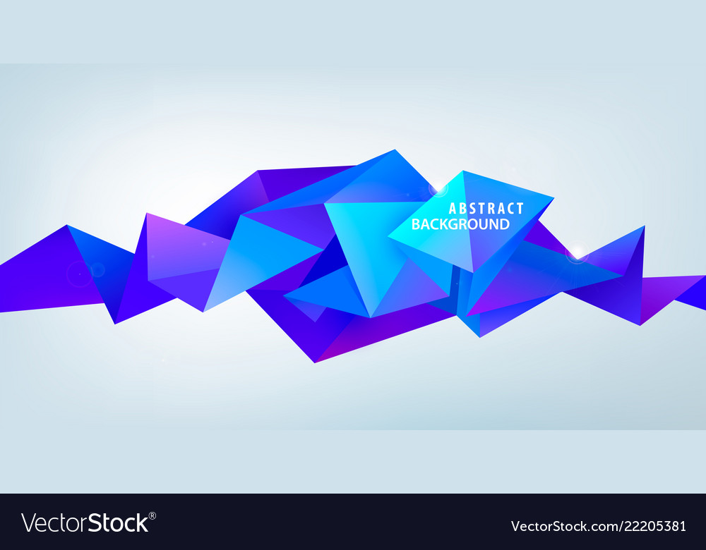 Realistic abstract 3d shape faceted