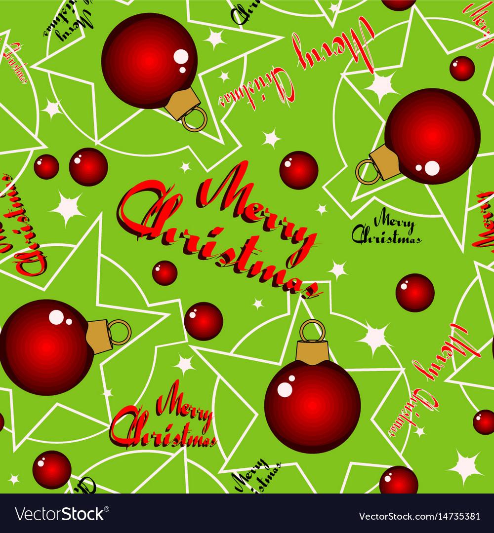 Seamless green christmas background