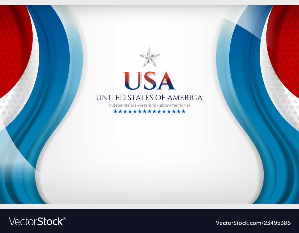 American background template